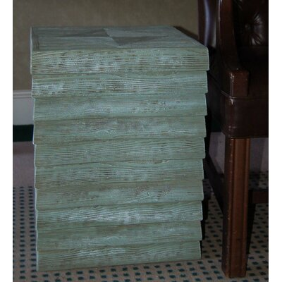 Plank End Table Color: Sea Mist