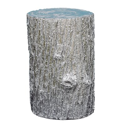Tree Stump End Table Finish: Silver
