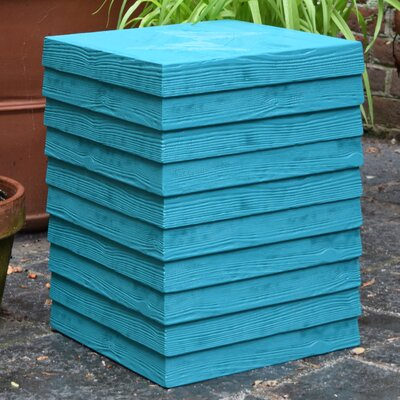 Conrad Outdoor Plank Side Table Finish: Lagoon Blue