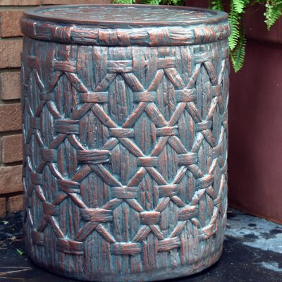 Outdoor Basket Weave End Table