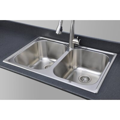 Chicago Series 33 x 22 Double Topmount Kitchen Sink
