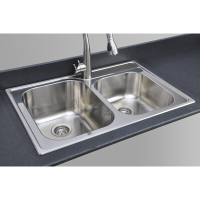 Great Lakes Series 33 x 22 40/60 Topmount Kitchen Sink