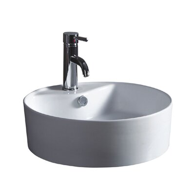 China Luxe Ceramic Circular Vessel Bathroom Sink