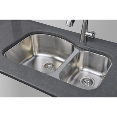 Chicago Series 31.5 x 20.5 Double Bowl Kitchen Sink
