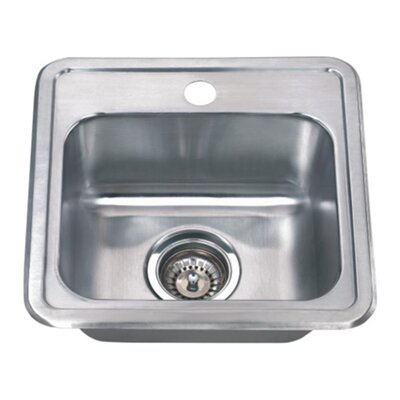 Craftsmen Series 15 x 15 Topmount Bar Sink