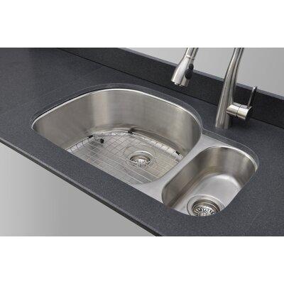 Craftsmen Series 31.75 x 20.88 80/20 Double Bowl Kitchen Sink