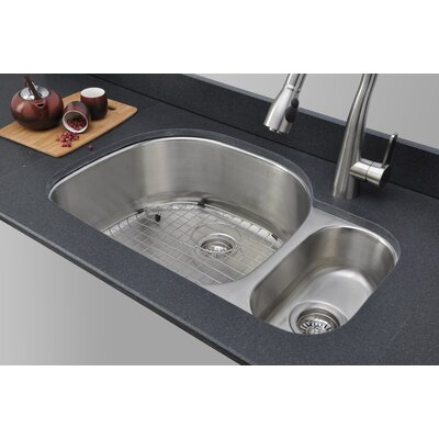 Craftsmen Series 31.75 x 20.88 80/20 Double Bowl Kitchen Sink