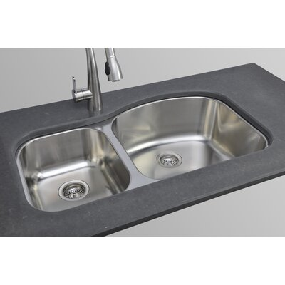 Chicago Series 37 x 18.13 40/60 Double Bowl Kitchen Sink