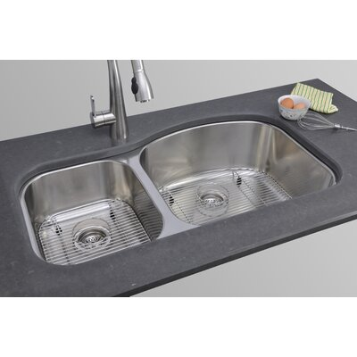 Chicago Series 37 x 18.13 40/60 Double Basin Undermount Kitchen Sink