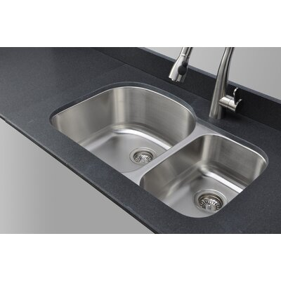 Craftsmen Series 31.5 x 20.5 70/30 D-shaped Double Bowl Kitchen Sink