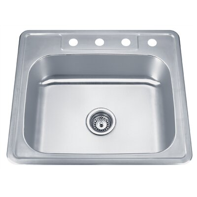 Speciality Series 25 x 22 ADA Topmount Single Bowl Kitchen Sink