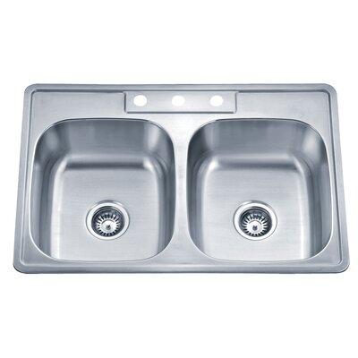 Speciality Series 33.13 x 22 ADA Topmount Double Kitchen Sink