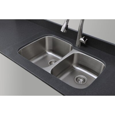 Craftsmen Series 32.13 x 20.63 60/40 Double Bowl Kitchen Sink