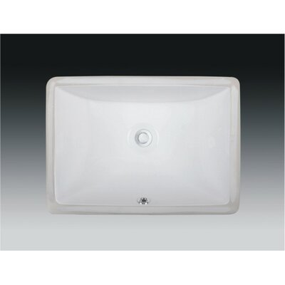 Rhythm Series Ceramic Rectangular Undermount Bathroom Sink with Overflow Sink Finish: White