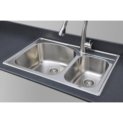 Chicago Series 33 x 22 70/30 Topmount Kitchen Sink