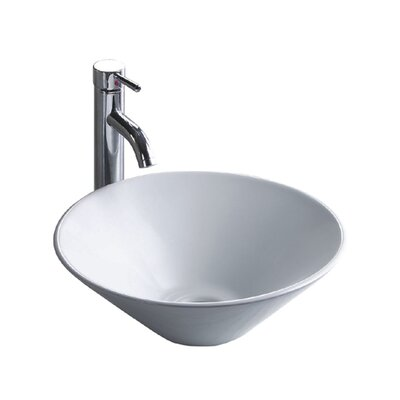 China Luxe Ceramic Lavatory Circular Vessel Bathroom Sink