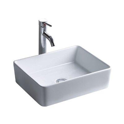 China Luxe Ceramic Lavatory Rectangular Vessel Bathroom Sink