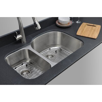 Craftsmen Series 31.5 x 20.5 30/70 D-shaped Double Bowl Kitchen Sink