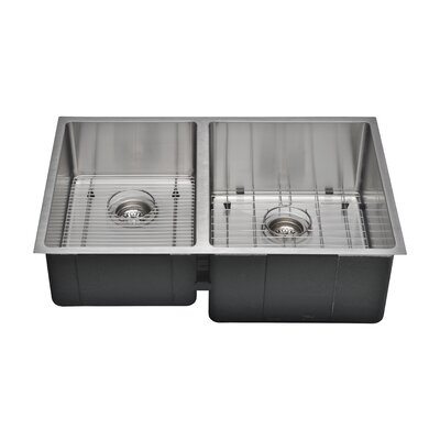 Chefs Series 30 x 19 45/55 Farm Double Bowl Kitchen Sink