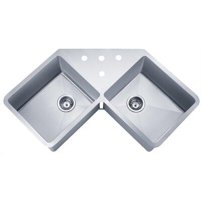 Speciality Series 44.38 x 23.5 Butterfly Corner Kitchen Sink