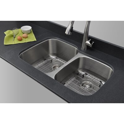 Craftsmen Series 32.13 x 20.63 60/40 Double Bowl Kitchen Sink