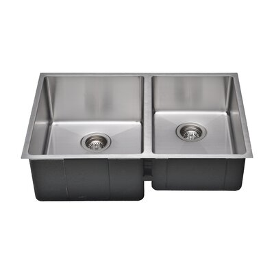 Chefs Series 30 x 19 55/45 Farm Double Bowl Kitchen Sink