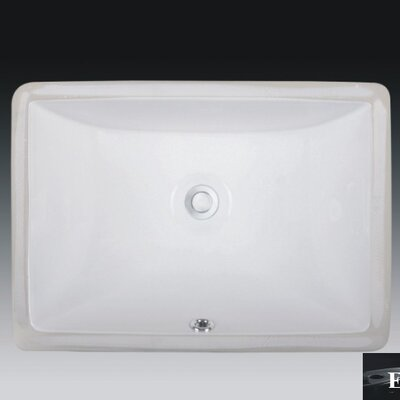 Rhythm Series Ceramic Rectangular Undermount Bathroom Sink with Overflow Sink Finish: Ebony