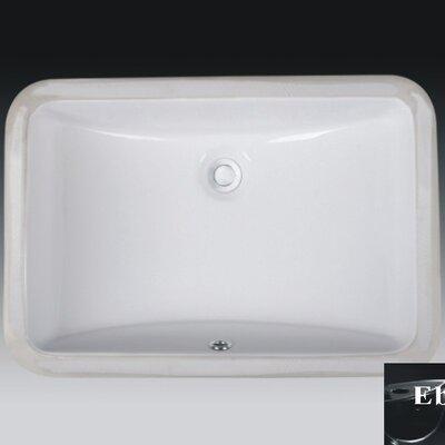 Rhythm Series Ceramic Rectangular Undermount Bathroom Sink with Overflow Sink Finish: Ebony