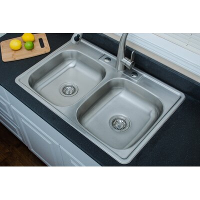 Speciality Series 33.13 x 22 ADA Topmount Double Kitchen Sink