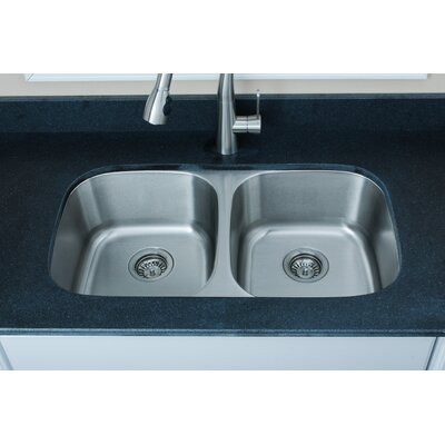 Craftsmen Series 32.5 x 18.13 Equal Double Bowl Kitchen Sink
