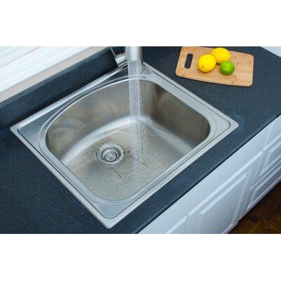 Chicago Series 25 x 22 D-shaped Topmount Kitchen Sink