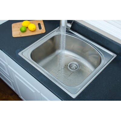 Chicago Series 25 x 22 D-shaped Topmount Kitchen Sink