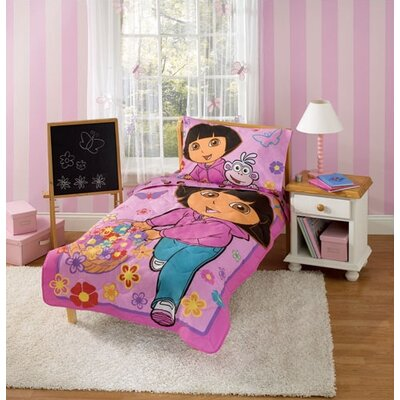 dora bedding on baby boom dora the explorer toddler bedding set