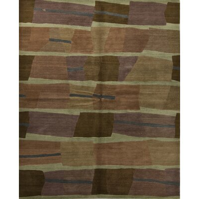 Designers Reserve Brown/Green Area Rug Rug Size: 3 x 5