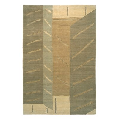 Designers Reserve Cream/Green Area Rug Rug Size: 3 x 5