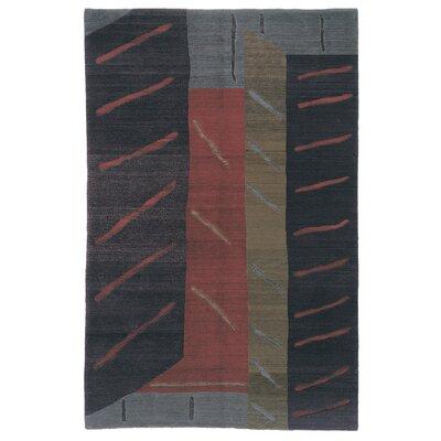 Designers Reserve Black/Blue Area Rug Rug Size: 3 x 5