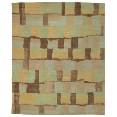 Designers Reserve Green/Brown Area Rug Rug Size: 3 x 5