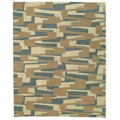 Designers Reserve Blue/Brown Area Rug Rug Size: 3 x 5