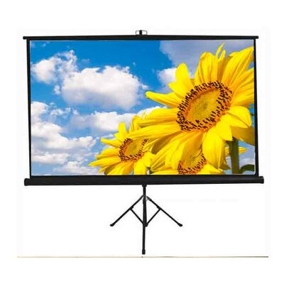 New Matte White Portable Projection Screen Screen Dimensions: 50 H x 67 W