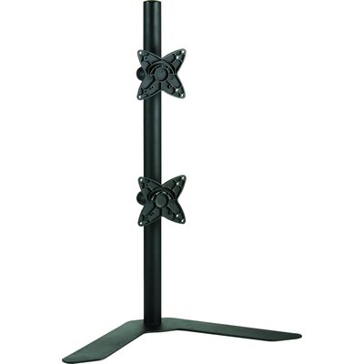 Dual LCD Monitor Free Standing Vertical Height Adjustable 2 Screens Desk Mount