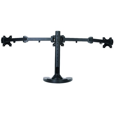 Triple LCD Monitor Free Standing Height Adjustable 3 Screen Desk Mount