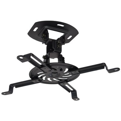 Universal Adjustable Black Ceiling Projector / Projection Mount Extending Arms Finish: Black