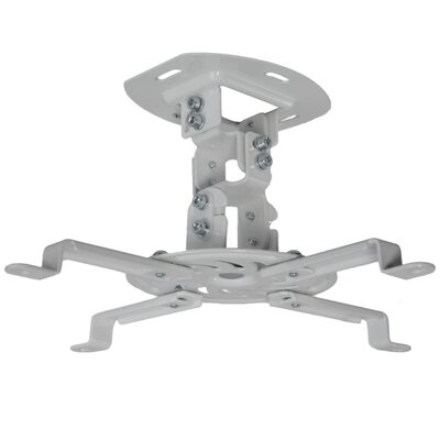 Universal Adjustable Black Ceiling Projector / Projection Mount Extending Arms Finish: White