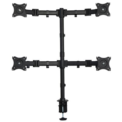 Height Adjustable 4 Screen Desk Mount