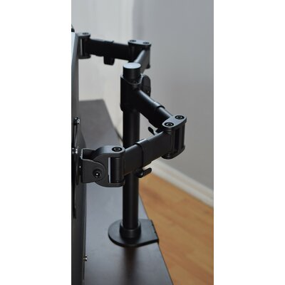 Height Adjustable 2 Screen Desk Mount