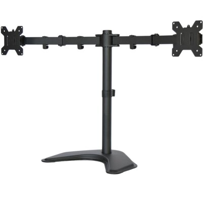 Dual LCD Monitor Free Standing Height Adjustable 2 Screens Desk Mount