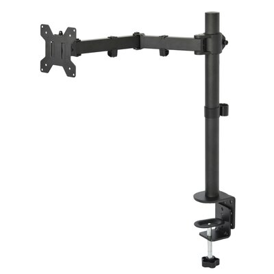Single LCD Monitor Fully Height Adjustable Desk Mount