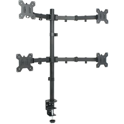 Quad LCD Height Adjustable 4 Screen Heavy Duty Stand Monitor Mount
