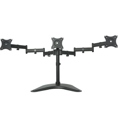 Height Adjustable 3 Screen Desk Mount
