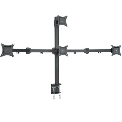 Quad LCD 4 Screen Heavy Duty Stand Monitor Mount